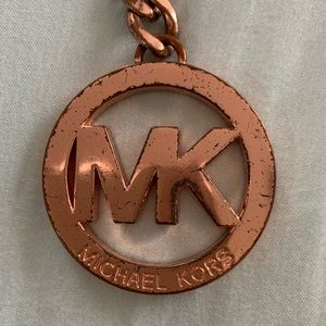 MK rose gold key chain